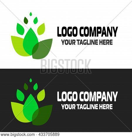 Eco Icon Green Leaf. Ecology, Cleanliness And Green Movement Logo. The Symbol Of Plants And All Livi