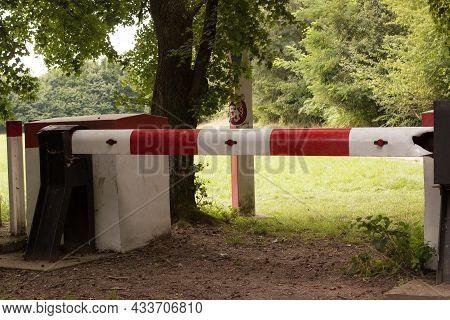 Border Barrier In Military Museum In Pohansko Lednicko - Valticko Area In Czech Republic