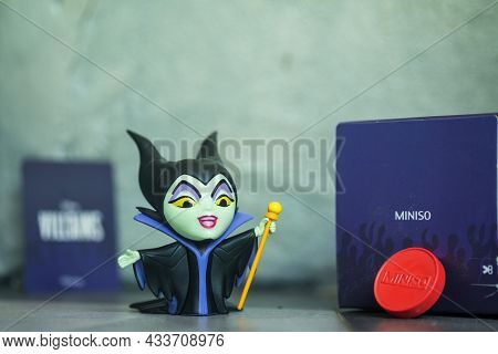 Bangkok, Thailand - September 22, 2021 : Cute Figurine Of Maleficent: Mistress, Figurine In Blind Bo