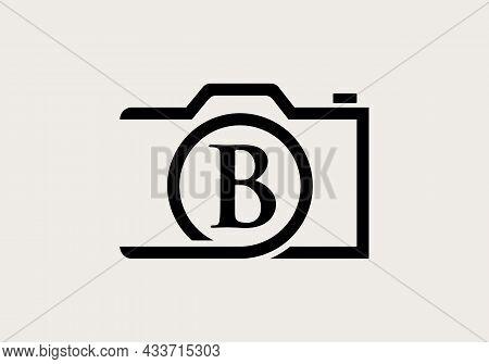 Photography Logo Design On Letter B. Letter B Photography Logo Design. Camera Logo Design Inspiratio