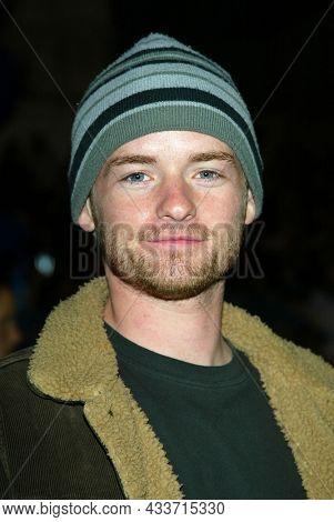 LOS ANGELES - APR 28: Chris Masterson arrives for the ÔX2: X-Men UnitedÕ Los Angeles Premiere on April 28, 2003 in Hollywood, CA