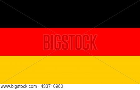 National Flag Of Germany Original Size And Colors Vector Illustration, Flagge Deutschlands With Nati