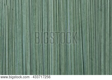 Green Uncooked Tagliatelle Textured Background High Quality Photo