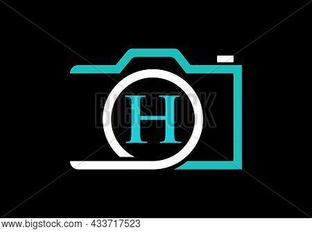 Photography Logo Design On Letter H. Letter H Photography Logo Design. Camera Logo Design Inspiratio