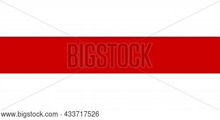 National Flag Of Belarus Original Size And Colors Vector Illustration, Democratic Belarusian Peoples