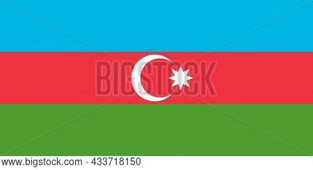 National Flag Of Republic Of Azerbaijan Original Size And Colors Vector Illustration, Azerbaycan Bay