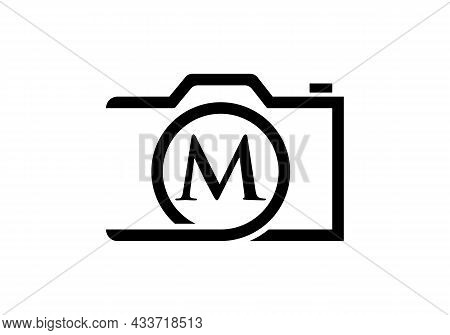 Photography Logo Design On Letter M. Letter M Photography Logo Design. Camera Logo Design Inspiratio