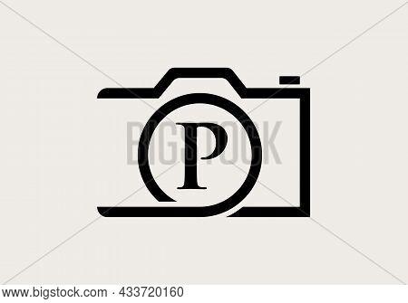 Photography Logo Design On Letter P. Letter P Photography Logo Design. Camera Logo Design Inspiratio