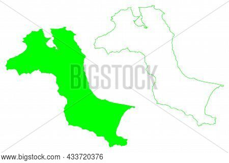 Bangka Island (republic Of Indonesia, South East Asia) Map Vector Illustration, Scribble Sketch Bank