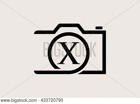 Photography Logo Design On Letter X. Letter X Photography Logo Design. Camera Logo Design Inspiratio