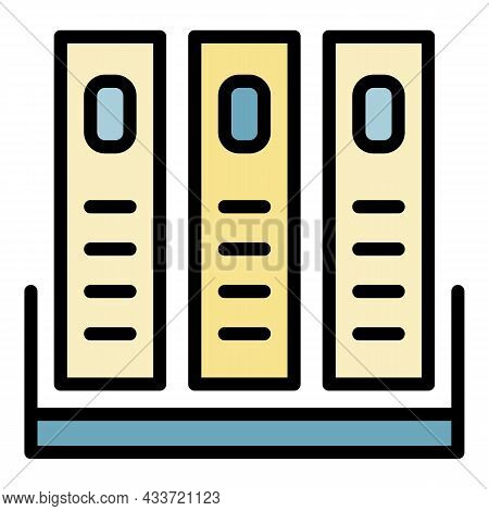 Archive Cell Icon. Outline Archive Cell Vector Icon Color Flat Isolated