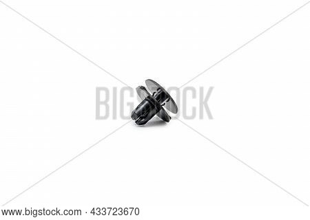 Bumper Retainer Clips In White Background For Texture And Copy Space Parts For Cars