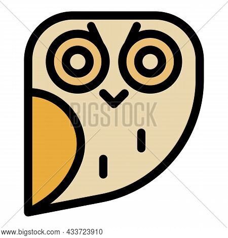 Fat Owl Icon. Outline Fat Owl Vector Icon Color Flat Isolated