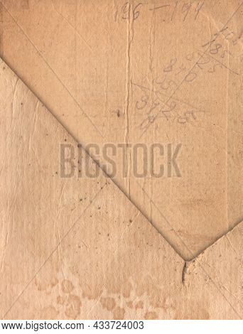 Vintage Old Paper With Scratches And Stains Texture