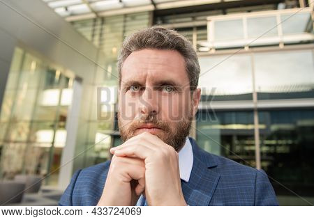 Mature Business Man In Formalwear Wishing Anf Hoping, Hope