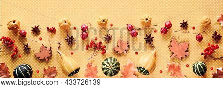 Hashtag Fall Is My Favorite Color. Fig And Quince Fruits On Vibrant Magenta And White Layered Paper.