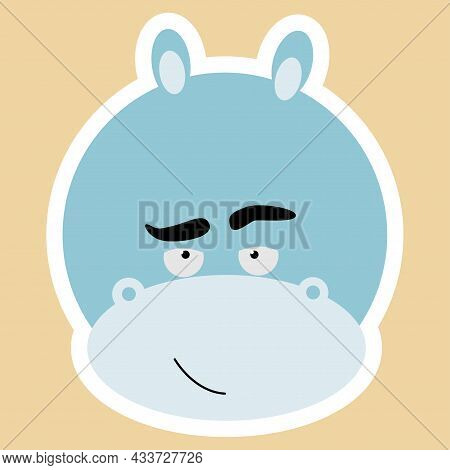Emotional Animals. Cartoon Cute Animals For Children's Cards And Invitations. Vector Illustration. A