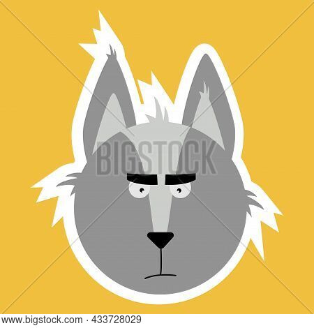 Emotional Animals. Cartoon Cute Animals For Childrens Cards And Invitations. Vector Illustration. A