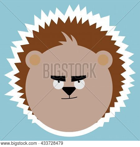 Emotional Animals. Cartoon Cute Animals For Children's Cards And Invitations. Vector Illustration. H