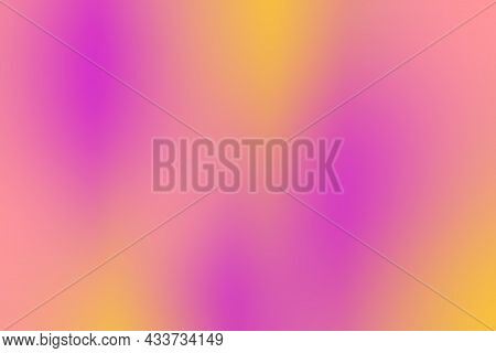 Smooth Gradient Background With Pink And Yellow Colors