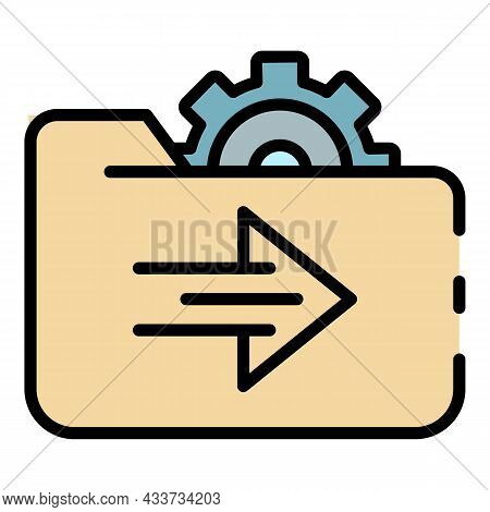 Setting Hosting Directories Icon. Outline Setting Hosting Directories Vector Icon Color Flat Isolate