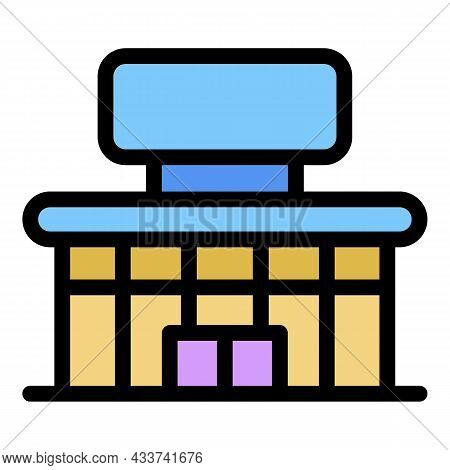 City Mall Icon. Outline City Mall Vector Icon Color Flat Isolated