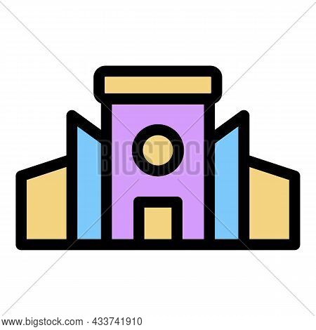 Mall Sale Icon. Outline Mall Sale Vector Icon Color Flat Isolated