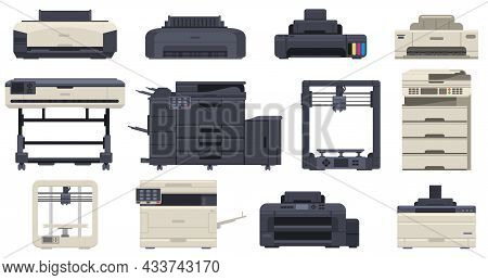 Printer Office Work Professional Scanner Copier Machines. Office Technology Printing Devices, 3d Pri