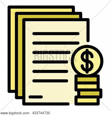 Mortgage Down Payment Icon. Outline Mortgage Down Payment Vector Icon Color Flat Isolated