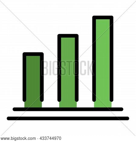 Mortgage Histogram Icon. Outline Mortgage Histogram Vector Icon Color Flat Isolated