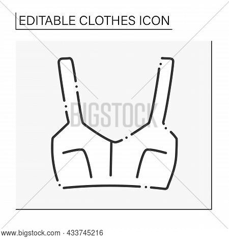 Fashion Line Icon. Casual Summer Outfit. Trendy Clothing. Top. Clothes Concept. Isolated Vector Illu