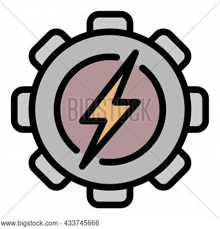 Coal Industrial Energy Icon. Outline Coal Industrial Energy Vector Icon Color Flat Isolated