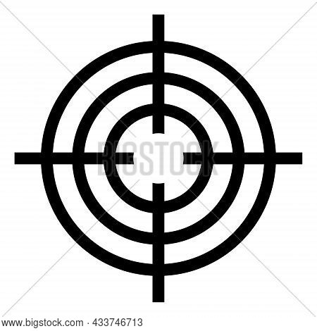 Icon Sight For Accurate Shooting, Crosshair With Round Rings Target