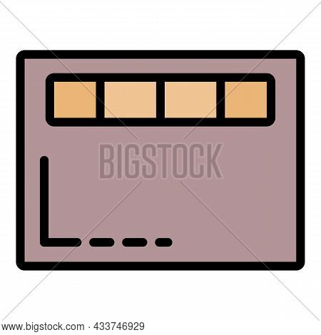 Modern Scales Icon. Outline Modern Scales Vector Icon Color Flat Isolated