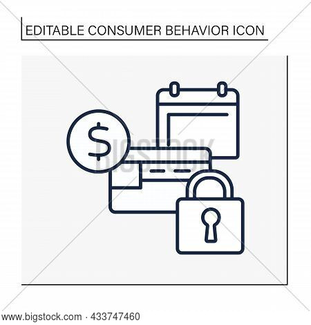 Cashback Line Icon. Monthly Cash Return From Shopping. Banking. Private Account. Customer Behavior C