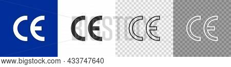 Ce Certificate Vector Icon Set. Vector Mark For Product
