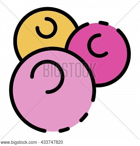 Staphylococcus Icon. Outline Staphylococcus Vector Icon Color Flat Isolated