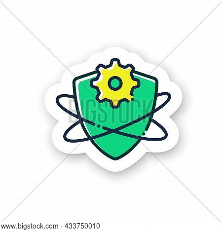 Adaptive Immunity Sticker Icon. Acquired Immune System. Immunology Badge For Designs. Body Defence S
