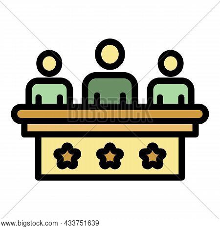 Staff Education Forum Icon. Outline Staff Education Forum Vector Icon Color Flat Isolated