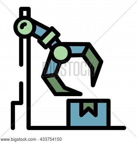 Assembly Delivery Box Icon. Outline Assembly Delivery Box Vector Icon Color Flat Isolated