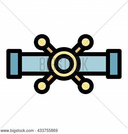 Metal Pipe Tap Icon. Outline Metal Pipe Tap Vector Icon Color Flat Isolated