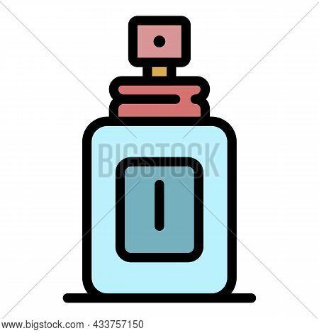 Man Deodorant Icon. Outline Man Deodorant Vector Icon Color Flat Isolated