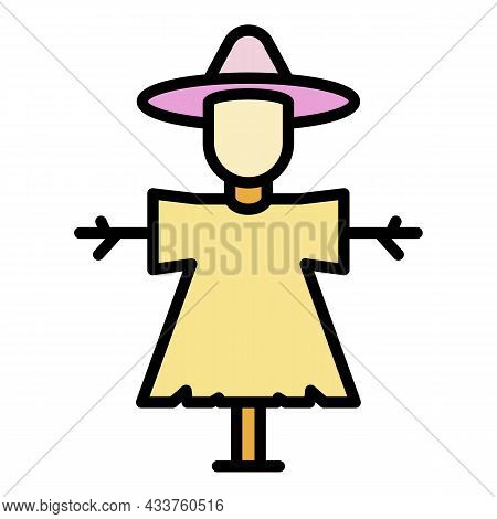 Classic Scarecrow Icon. Outline Classic Scarecrow Vector Icon Color Flat Isolated