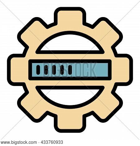 Update Security Process Icon. Outline Update Security Process Vector Icon Color Flat Isolated