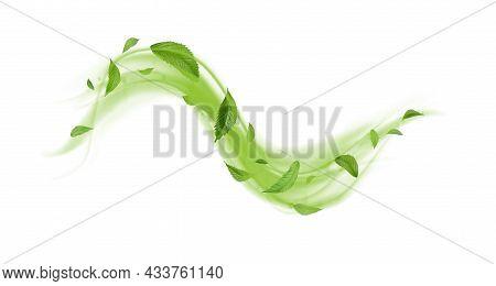 Green Floating Leaves Flying Leaves Green Leaf Dancing, Air Purifier Atmosphere Simple Main Picture