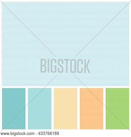 Blue Color Palette Soft Pastel For Template, Simple Blue Color Soft For Design Background