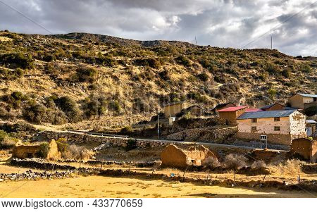 View Of Antacocha, Typical Peruvian Village In The Andes