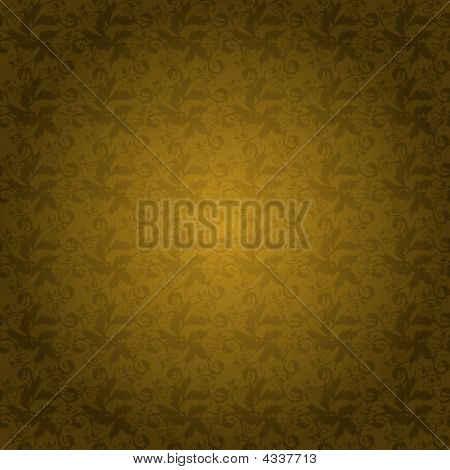 golden seamless tile with a floral themed background poster