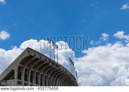 Auburn Alabama, Usa - June 18, 2020 - Jordan-hare Stadium, Stadium Seating Seen From The Rear On A S