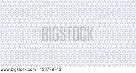 Trendy Floral Geometric Grid Pattern. Seamless Minimalist Linear Light Blue Ornament With Flower, Di